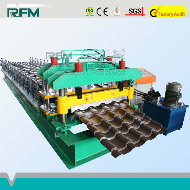 China Supplier Concrete Automatic Metal Roof Panel Glazed Tile Roll Forming Machine Manufacturers