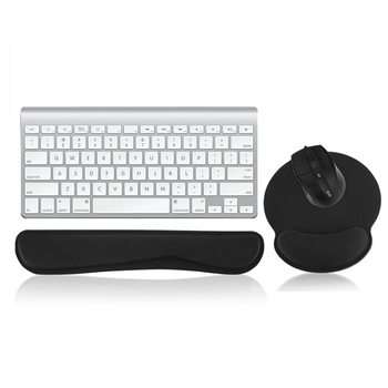 Memory Foam Keyboard Wrist Rest Pad and Ergonomic Mouse Pad with Wrist Support for Computer Laptop Mac and Non Slip,Safe,Pain Re