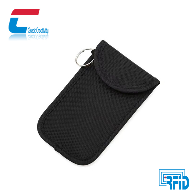 RFID signal shield Key Fob Bag holder pouch/Faraday Bag Rfid for smart cellphones privacy protection