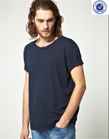 plain organic cotton t-shirt wide neck men