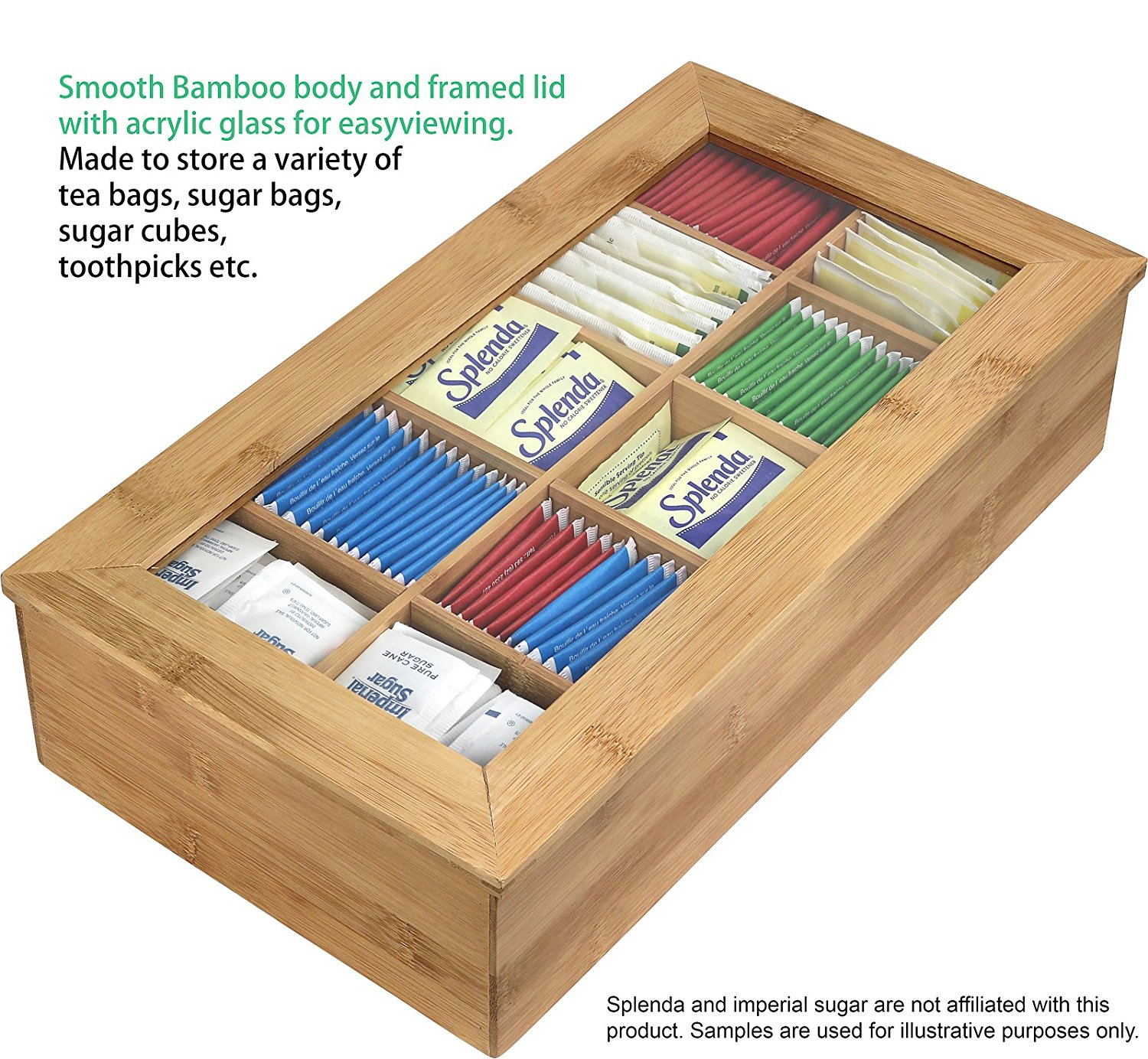Hot Sell 10 Component Tea Packaging Bamboo Box For High Quality