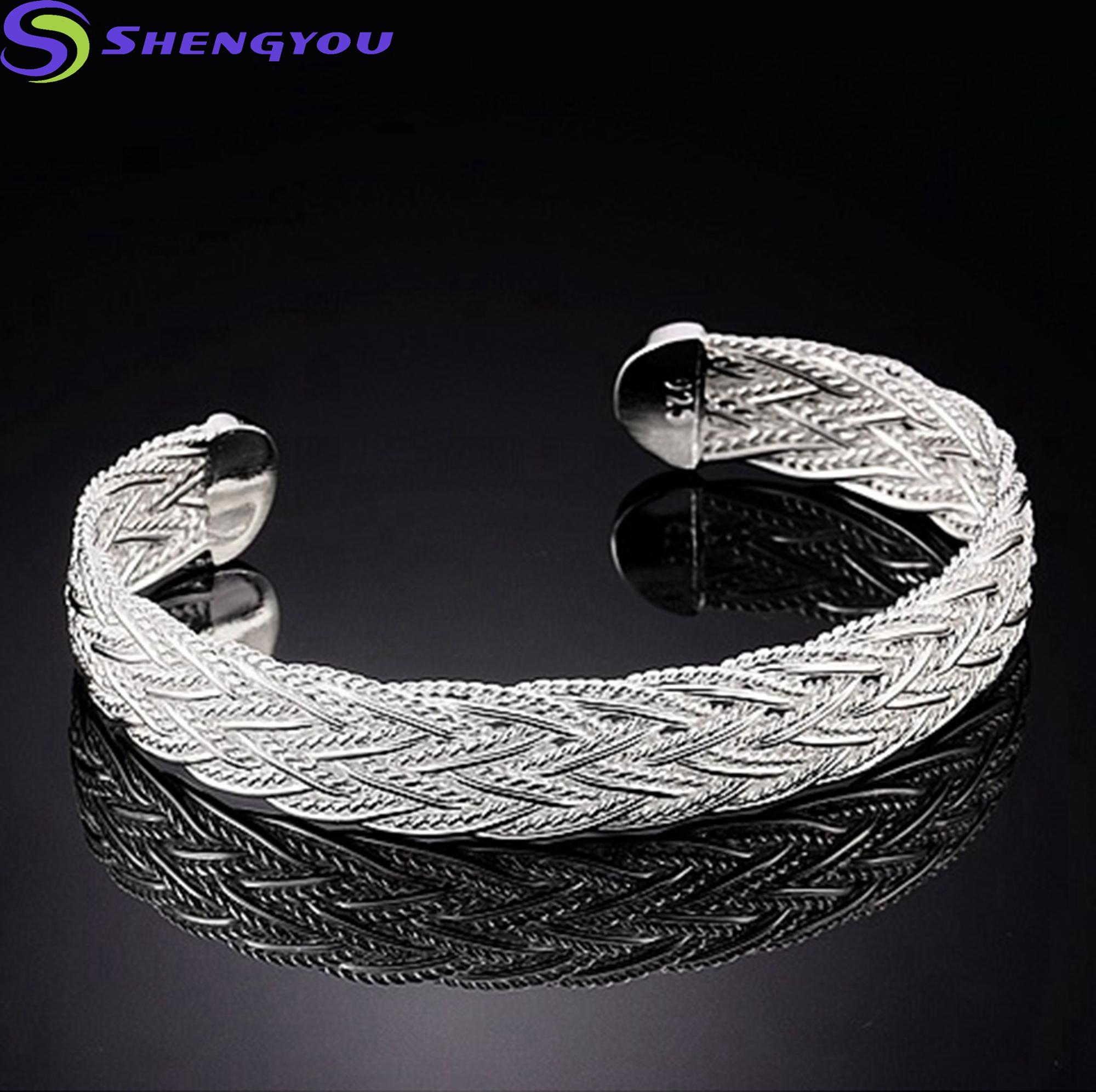 Continued Hot Rope Jewelry Cheap Custom Rope Pure Silver Bracelet