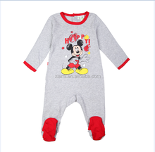 high quality new style lively cartoon pattern pure color first impressions baby clothes