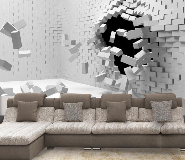 acheter papier peint de grandes 3d abstrait art st r o mode moderne papier peint. Black Bedroom Furniture Sets. Home Design Ideas