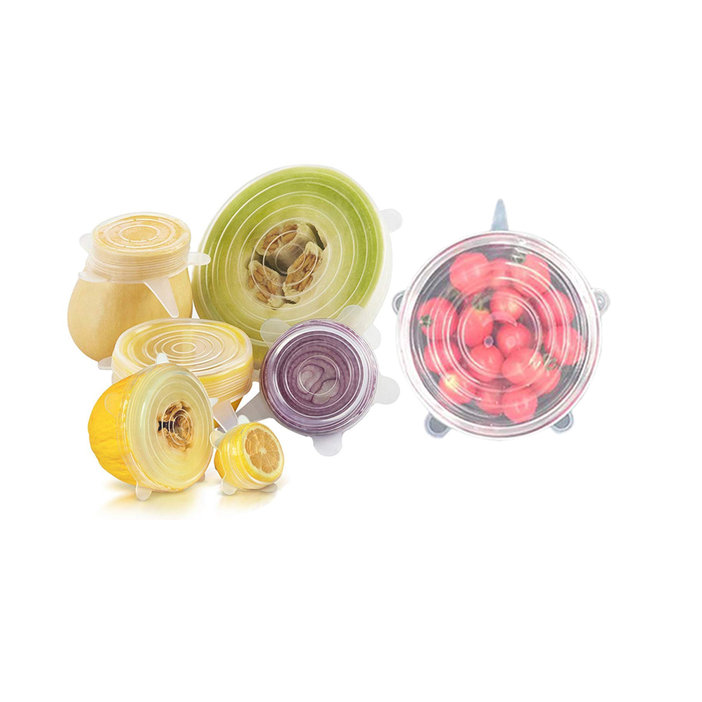 Silicone Stretch Lids Reusable Durable and Expandable Lids, Eco-friendly Stretch for Contai фото