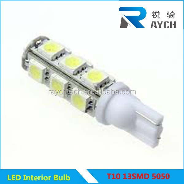 T10 13smd 5050 auto led light amber color T10 13SMD 5050 Car LED bulbs, car LED light, automotive LED bulbs