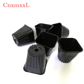 $0.016 Black Square pot Small Cheap Succulent Pot mini plastic nursery pot