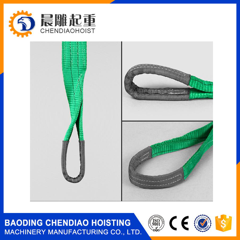 Hot Sale CE/GS Approved 2 ton Polyester Flat Webbing Pipe Lifting Sling