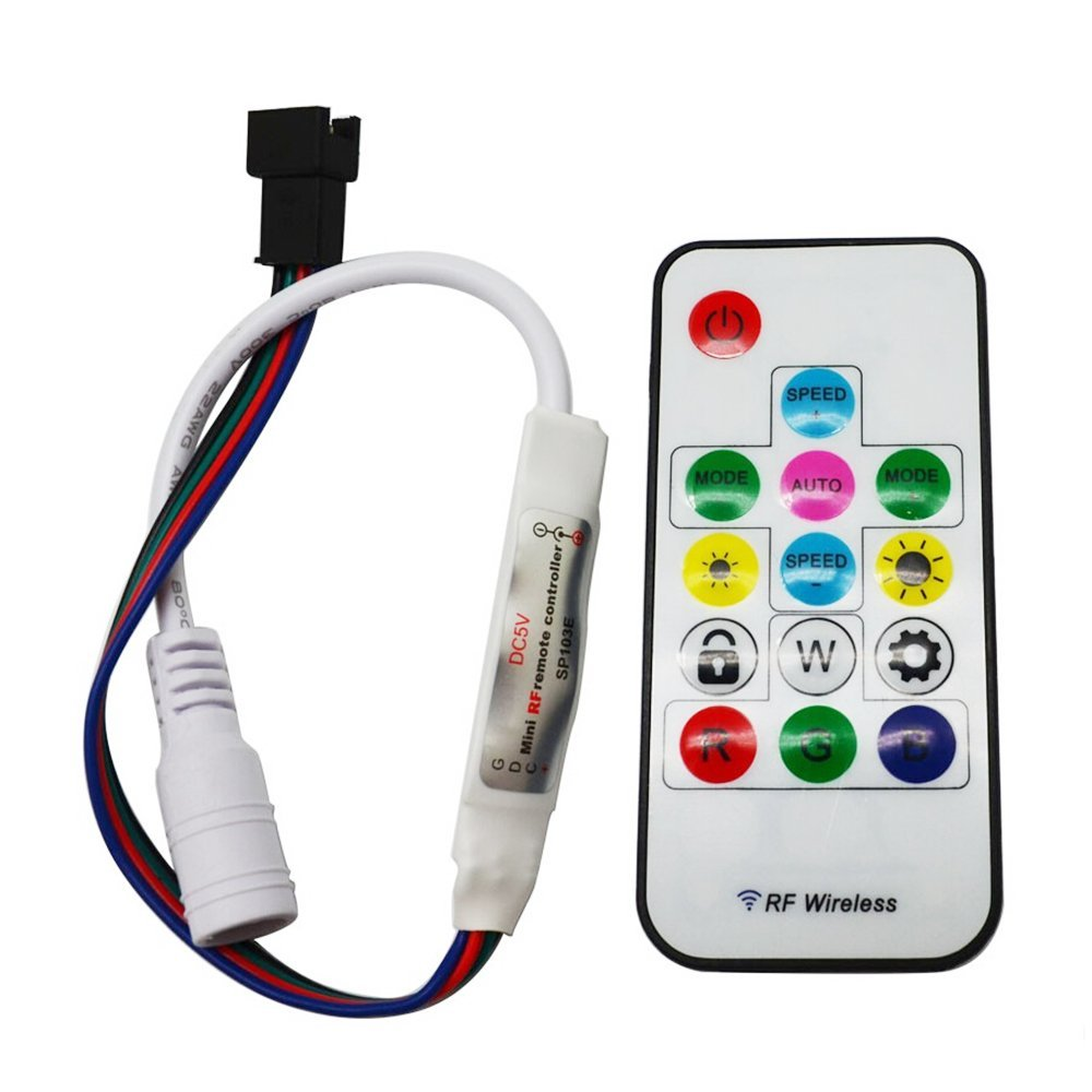 Cheap Ws2801 Programmable Rgb Led Strip Controlled By Arduino Find 3528 5050 Light Strips Cable Wire Lpd8806 Get Quotations Hkbayi Sp103e Dc5v 4 Pin Mini Digital Controller 14key Rf Wireless Remote