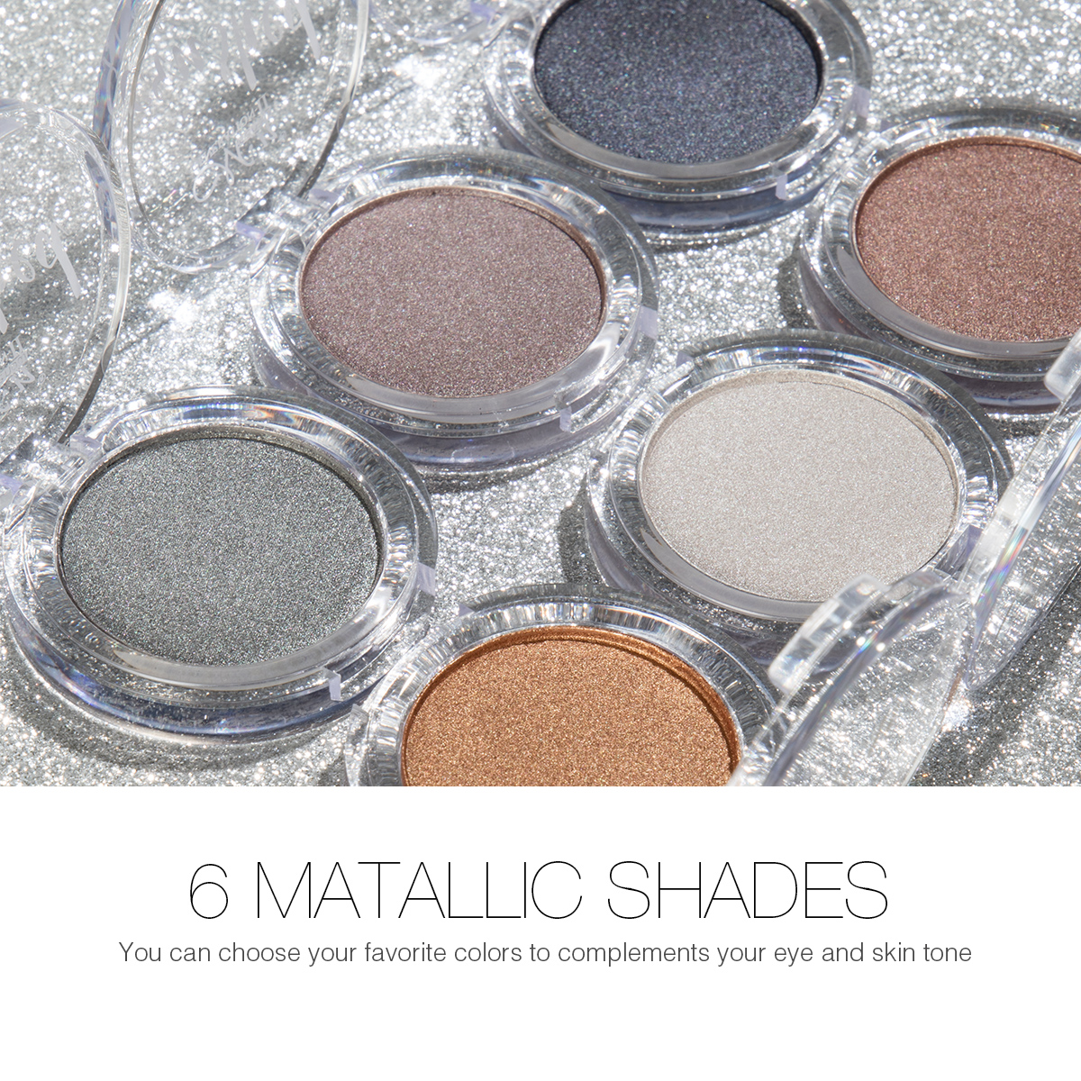 Menow E425 Cosmetic Eyes Makeup Metallic Eyeshadow Palette