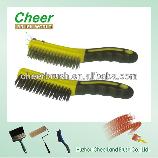 brass copper brush/galvanized iron wire cleaning brush for copper brush
