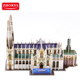 St. Barthelemy Cathedral world famous building 3d paper model puzzle