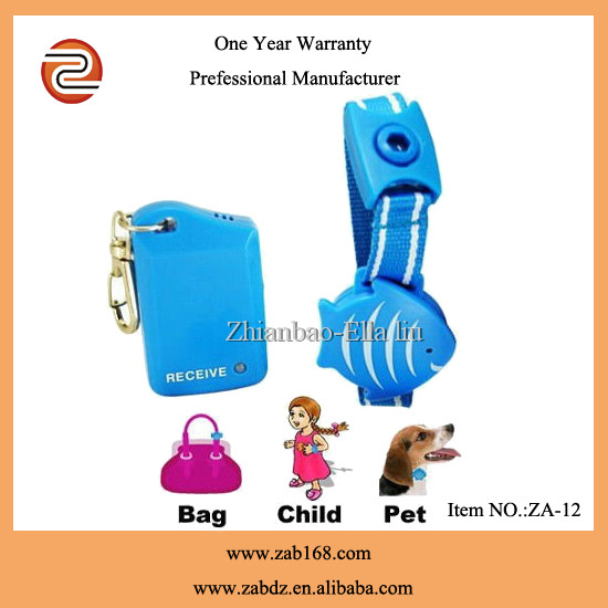 ZA-12, Wristband for Kids/Pets Safety Anti-Lost <strong>Alarm</strong> kits,vibratory children anti-lost <strong>alarm</strong>,Blue fish shape