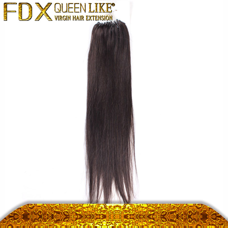 100g/pcs MICRO RING100% Indian Human Hair black 16inch, 18inch and 20inch hair