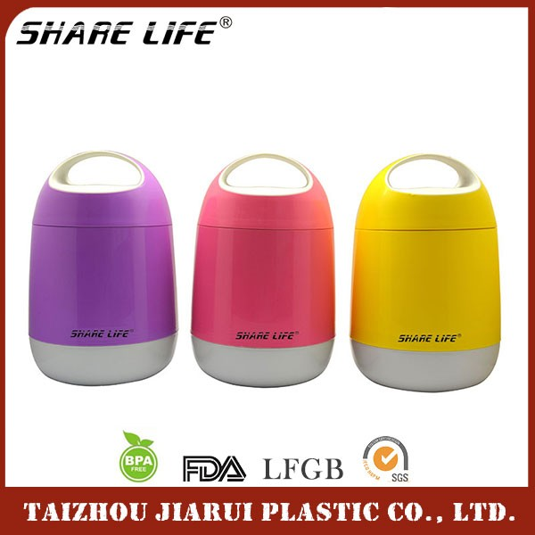 Hot Selling food storage container,thermos food warmer container,plastic and glass baby food container