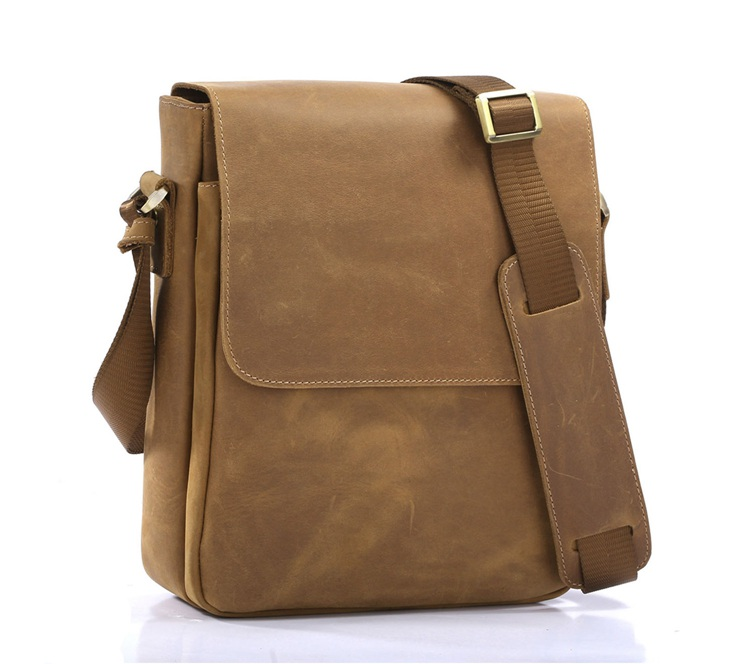 Crazy Horse Leather Messenger Bag Side Bags For Boys# 7192b - Buy ...