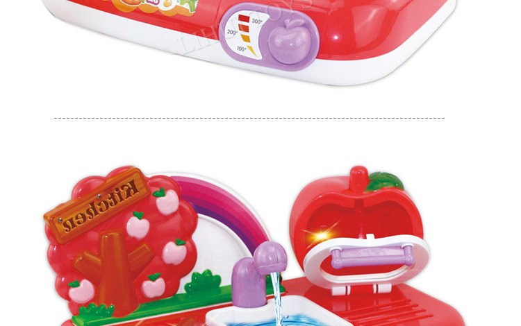Electric Apple Spray Kitchen Set For Kids Toy