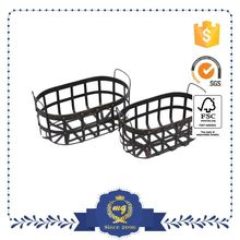 Small Order Accept Attractive Metal Wire Basket With Bead Decoration