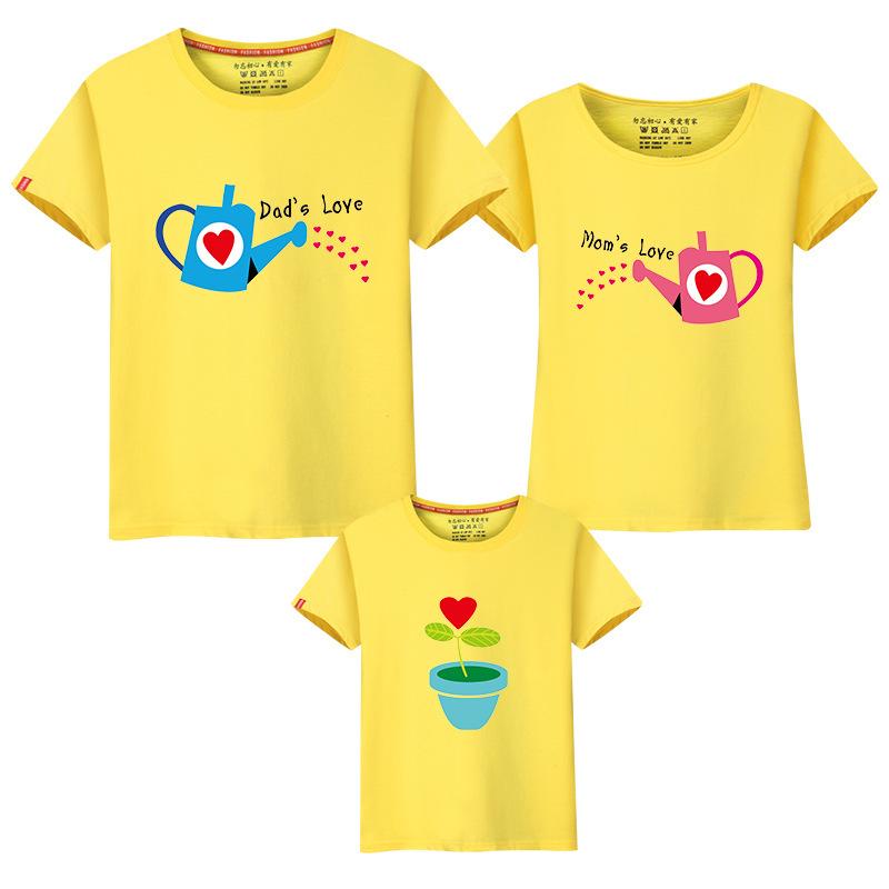 Whole Family T Shirt Design Pa Child Clothing Short Sleeve O Neck Printing Shirts