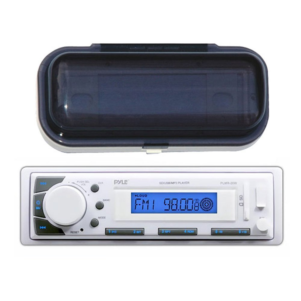 Pyle Marine Stereo AM/FM Receiver USB/SD iPod/MP3 Player + Waterproof Cover