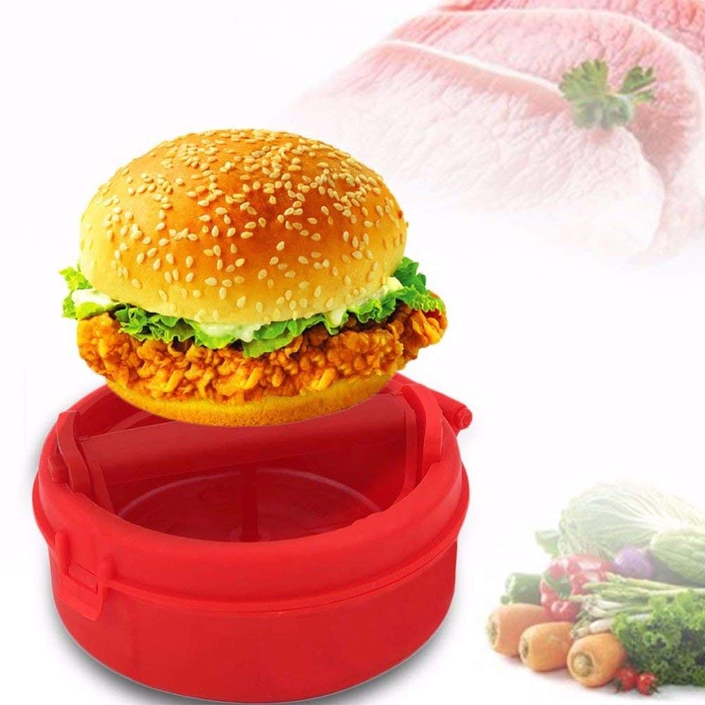 SuperStores Plastic Stuffed Burger Press Hamburger & Patties Maker Hamburger Meat Press Cookware Kitchen Dining Bar Tool