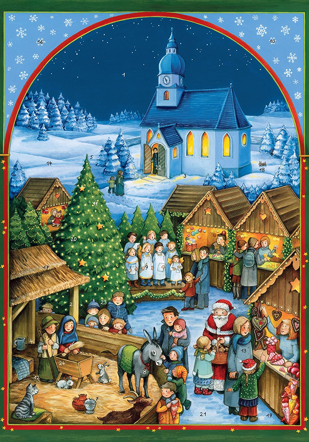 get quotations coppenrath unique traditional advent christmas calendar premium made in germany quaint german christmas village