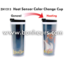 New Novelty Toy Stainless James Heat Sensor Color Change Cup