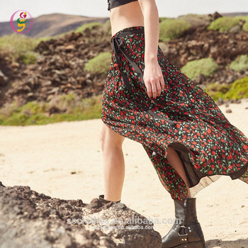 half off shop best sellers recognized brands Comfort Smooth Floral Printed Chiffon Maxi Beach Long Skirt Split Front  Beachwear Skirt - Buy Open Front Skirt,Indian Long Skirts,Beach Chiffon  Skirt ...