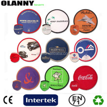 professional round fan cheap various colors fold nylon frisbee