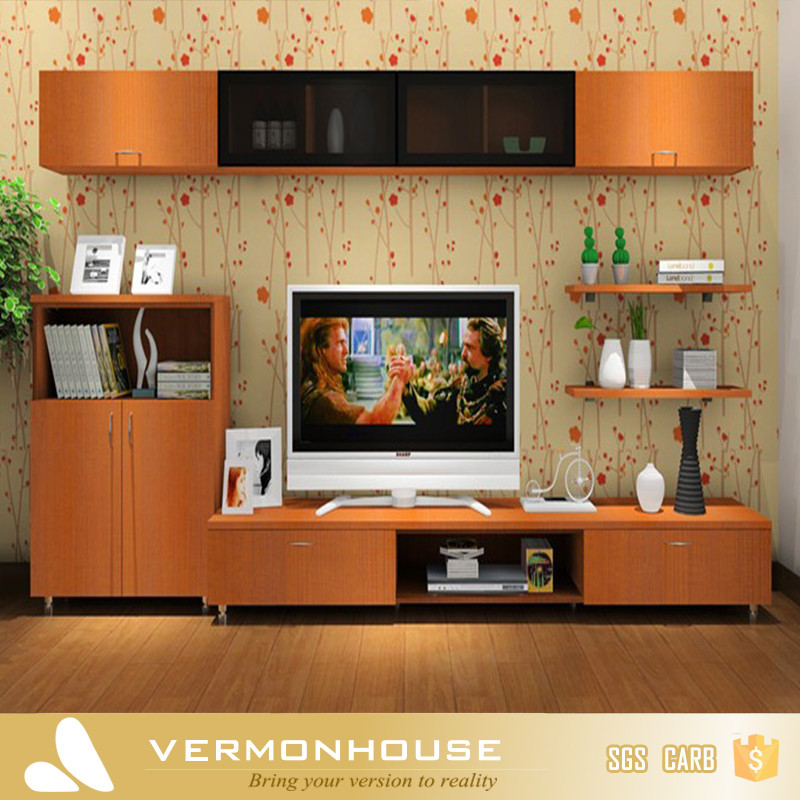 Hangzhou modern lcd tv table wooden showcase designs for for Wall hanging showcase designs