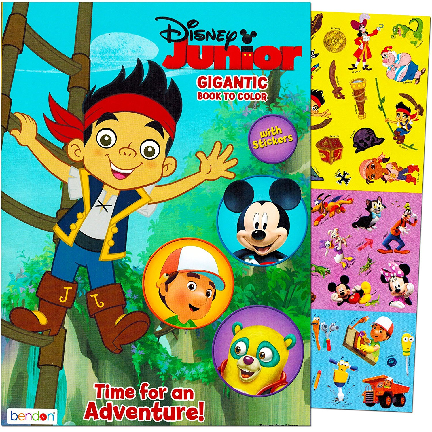 Special Agent Oso 2999 Disney Junior Gigantic Coloring Book For Boys With Stickers 224 Pages Featuring Mickey Mouse