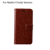 Custom design Book Wallet flip leather case For Redmi 4 India Version