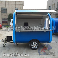 No Pay Rent Store Convenient Mobile Food Cart Street Vending Carts With Stainless Working Table