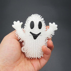 1180616-4 cute LED flashing light up squishy Halloween ghost puffer ball