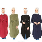 Manufacture fancy dubai abaya long sleeve blouse malaysia muslim tops tunic dress islamic clothing women wear blouse