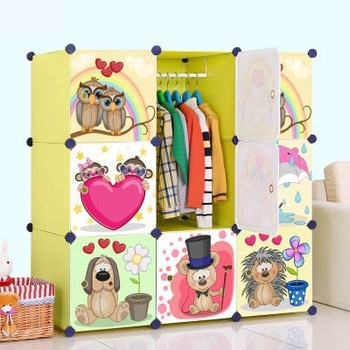 Cabinet Design For Clothes For Kids modern plastic baby cabinet design cartoon clothes wardrobe fh
