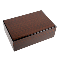 Luxury Piano Finished Cedar Wooden Humidor for Ferrari