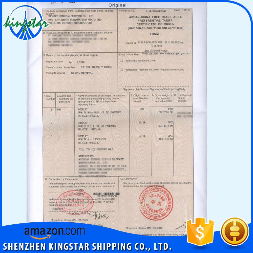Finden Sie Hohe Qualität Ursprungszeugnis Form Fta Hersteller und ...