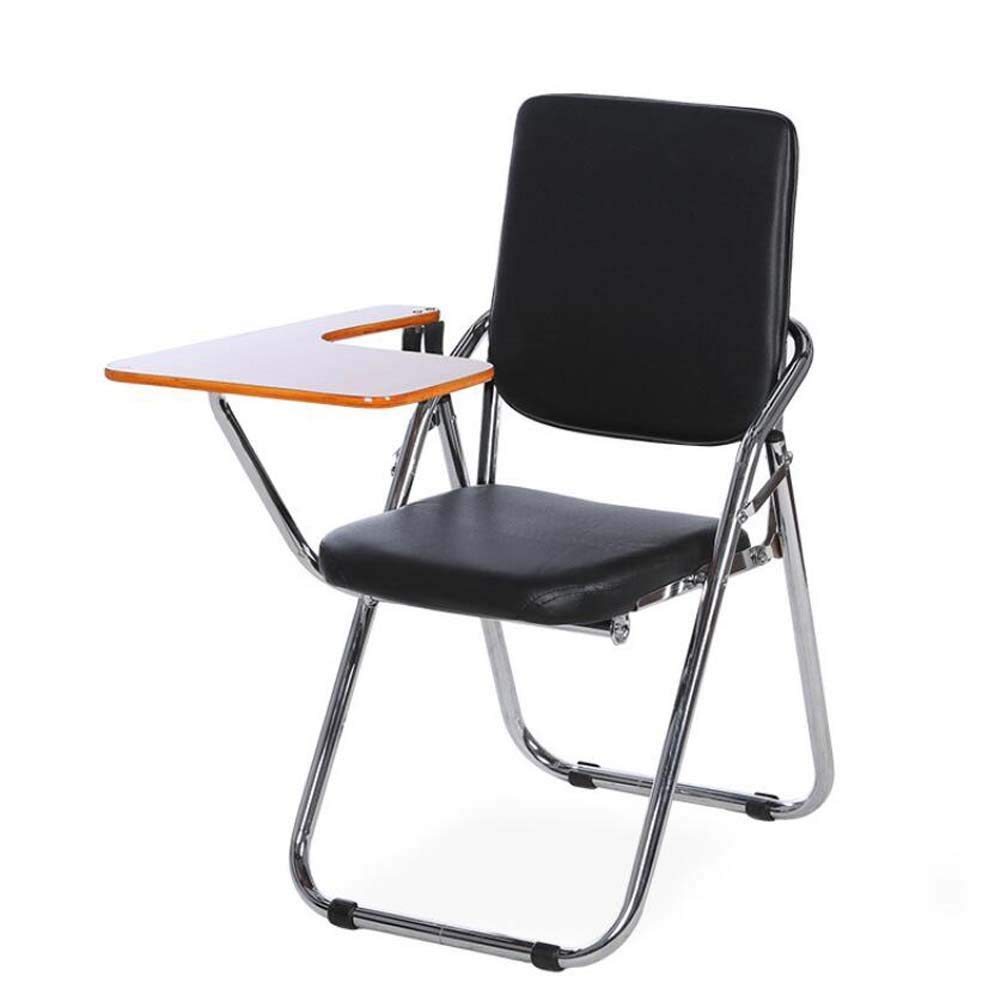 Onfly Folding Backrest Chair With Desk Board Padded Cushion Chair Reporter Chair Conference Chair Training Chair Portable Household Outdoor Desk Chairs