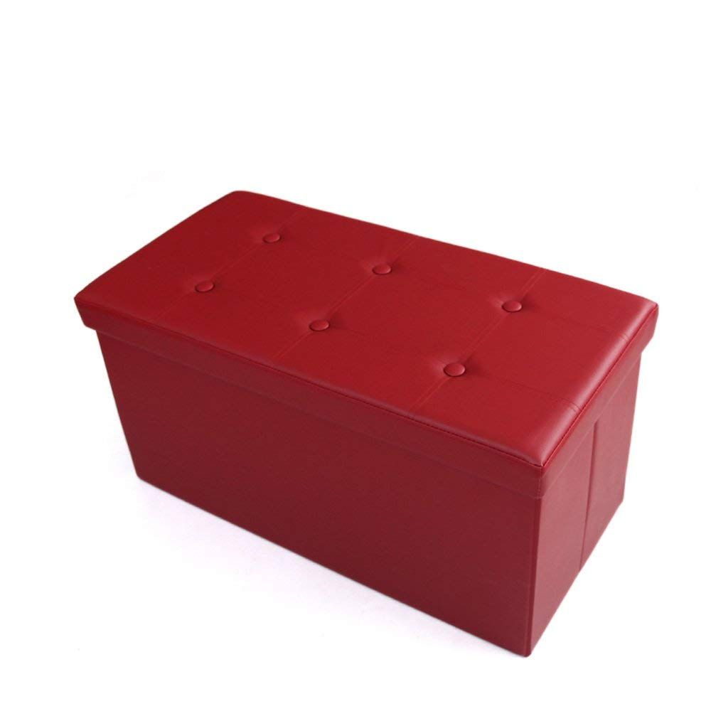 Barstools ZHANGRONG- Rectangular Folding Admission Sofa Stool Storage Box Can Take A Multi-functional Change Shoes Stool Sofa Stool (Color Optional) (Color : A)