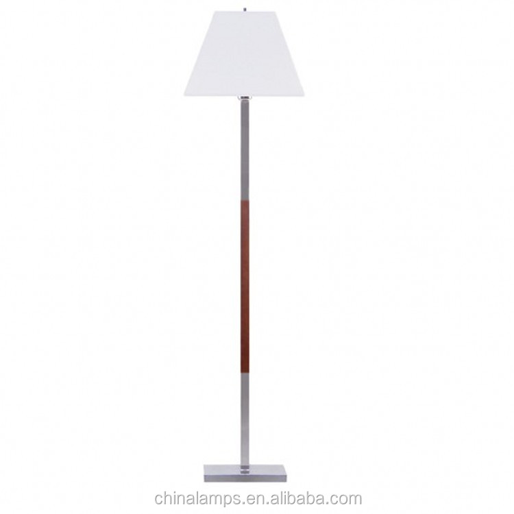 Simple Style Wood And Steel Floor Lamp With Square Lamp Holder And ...