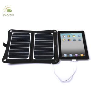 Foldable10W solar panel charger,solar panel system with 23% sunpower solar cells for outdoor