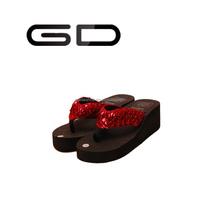 paillette flip flops,Wedge slippers,beach slipper