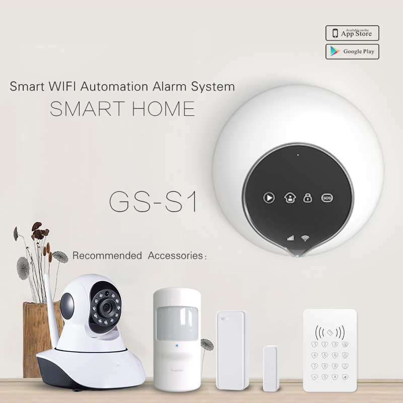 Professional DIY home security system WiFi alarm package & OEM/ODM GSM GPRS SMS WiFi alarm system