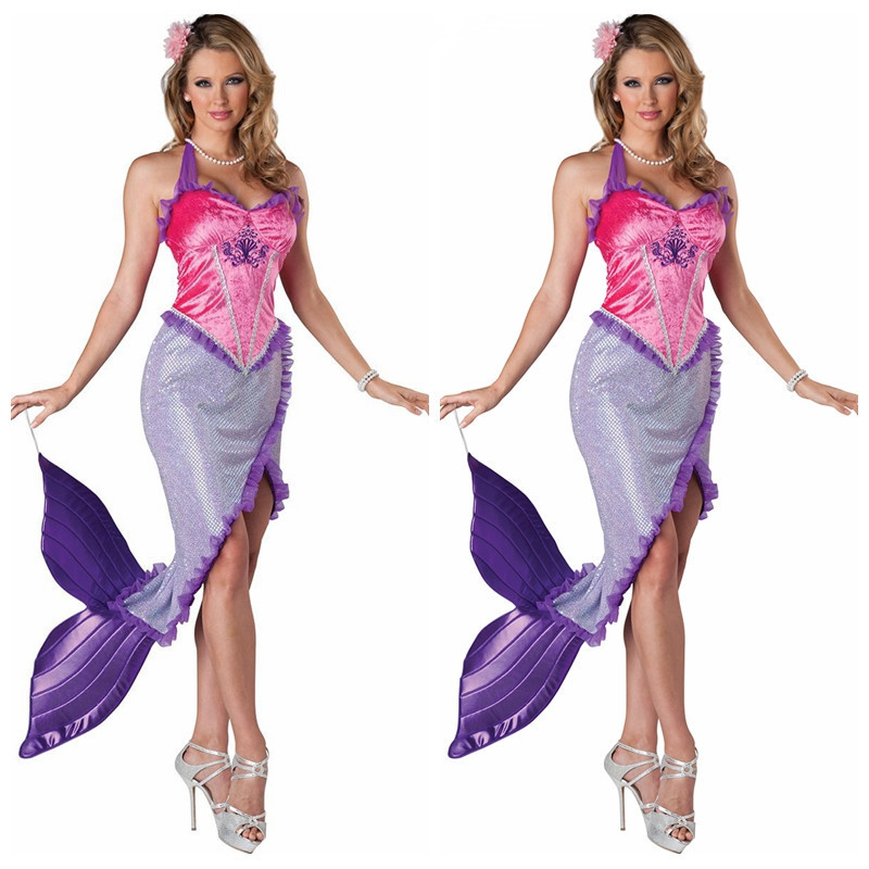 get quotations new and high quality luxury multi color mermaid cosplay costumes halloween masquerade sexy mermaid queen