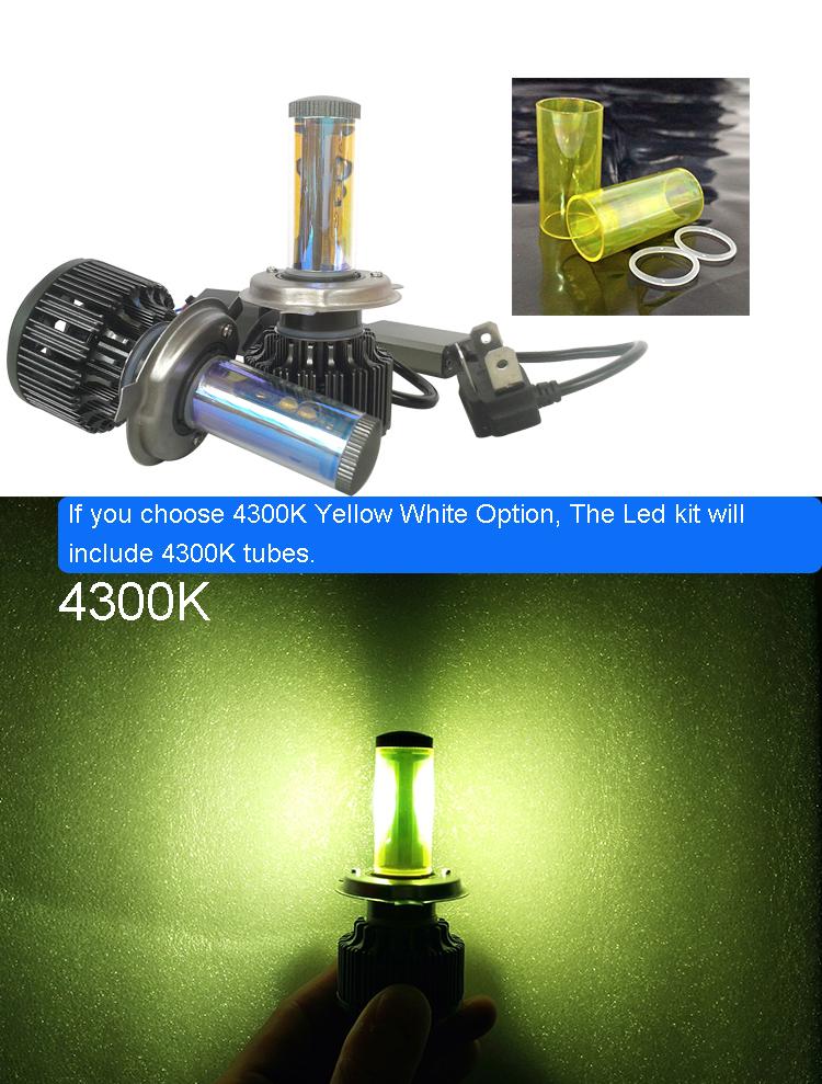 New H4 CREE LED Motorcycle Headlight Bulb 4000LM 40W HiLo 20W Low Beam Conversion Kit 3000K 4300K 6000K DC 12V P43T Headlamp (18)