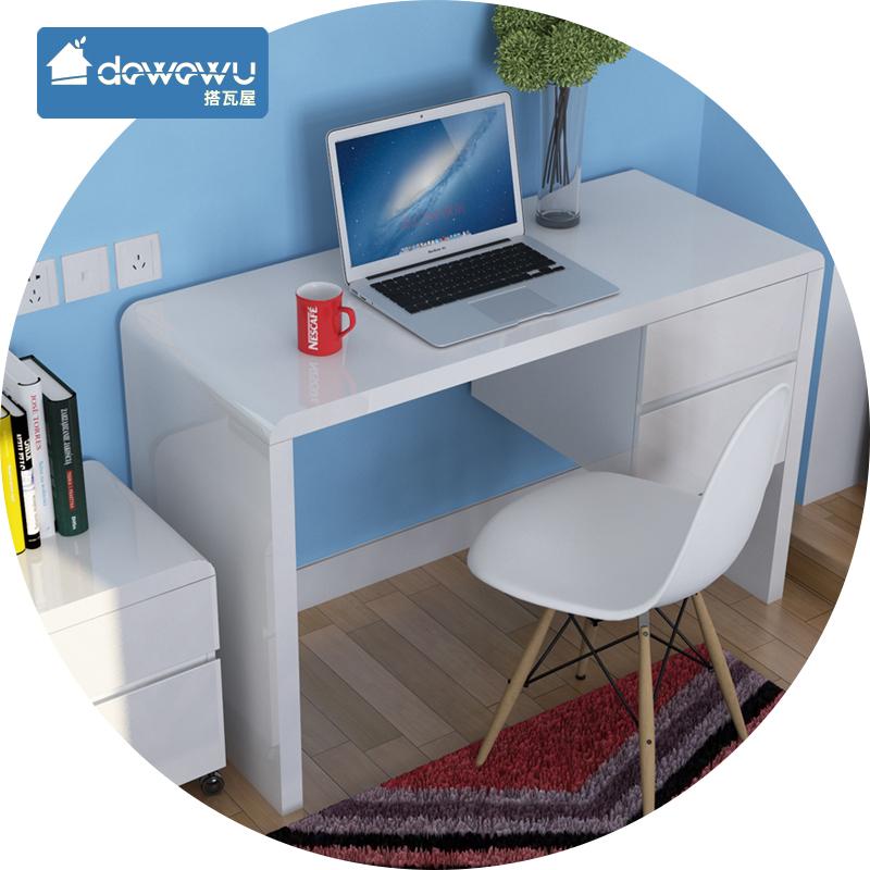 blanc peinture de piano ordinateur bureau bureau ikea moderne minimaliste petit appartement. Black Bedroom Furniture Sets. Home Design Ideas