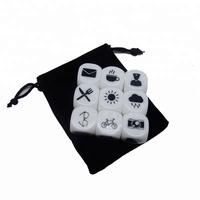 Customized 20MM Story Cube D6 Face Silk Screen Printing Dice Story Dice