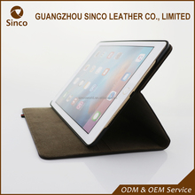 Customized protective black PU leather fashion tablet pc cases for ipad