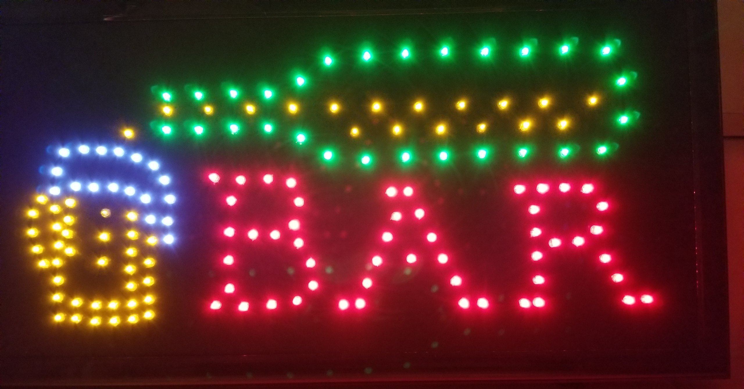 """Decorative Novelty LED Signs for Wall Decor, Man Cave, Wet Bar Accessories (19""""L x 10""""W x 1""""H, Bar)"""